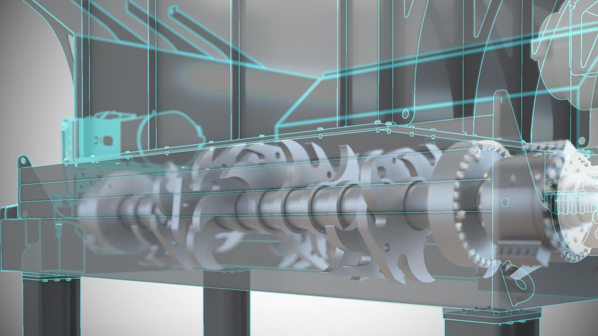 THM 3D Visualisierung Shredder für Broschüren